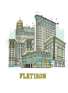 dibujos de edificios de nueva york por james gulliver hancock