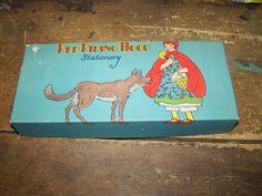 Little Red Ridng Hood Stationery EMPTY Card Board by ATokenOfLove