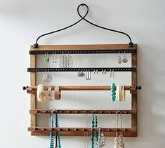 Pine & Iron Wall-Mounted Jewelry Hanger #potterybarn