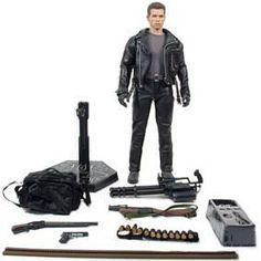 Hot Toys Action Figures T-800 Exterminador do Futuro.