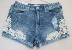 short jeans com renda - Pesquisa Google