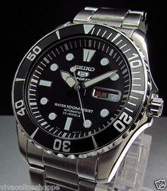 Seiko SNZF17K1 Automatic SNZF Diver x Large Bezel 23 Jewels Gear Watch GP GT3 TT | eBay