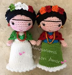 Fridas en amigurumi Love Crochet, Beautiful Crochet, Knit Crochet, Crochet Hats, Amigurumi Patterns, Amigurumi Doll, Crochet Patterns, Knitted Dolls, Crochet Dolls