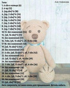 Mesmerizing Crochet an Amigurumi Rabbit Ideas. Lovely Crochet an Amigurumi Rabbit Ideas. Crochet Bear Patterns, Crochet Bunny Pattern, Crochet Teddy, Cute Crochet, Amigurumi Patterns, Crochet Animals, Crochet Dolls, Crochet Baby, Amigurumi Doll