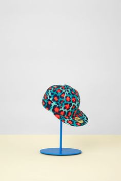 Shop the KENZO x New Era SS13 Cap in turquoise clouded leopard (EU delivery)