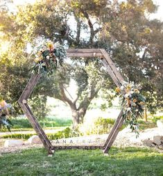 Geometric Arch Design for your ceremony or Reception