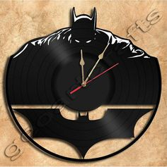 Wall Clock Batman Vinyl Record Clock home decoration housewares Upcycled Gift Idea by geoartcrafts on Etsy (null) Vinyl Record Clock, Vinyl Records, Record Wall, Lps, Clock Art, Music Clock, Clocks, Record Crafts, Batman Gifts