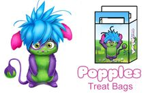 Treat bags - Free Fun Party Popples Printables and Activities | SKGaleana