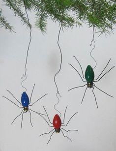 Ideas #DIY para reciclar #bombillas - Adornos para #Halloween