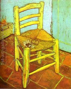 Vincent's Chair with Pipe Vincent Van Gogh Reproduction | 1st Art Gallery