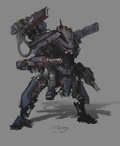 daily mech painting by ProgV on DeviantArt