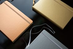 Dazzle your friends with a shiny new metallic & fountain pen friendly notebook. Check out the Leuchtturm1917 metallic dot grid journals, now in stock in all three colors (Copper, Gold, Silver). Pin for later.
