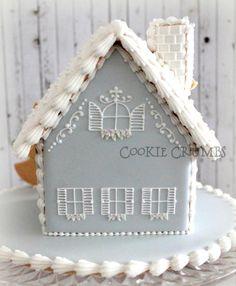 2014 winter gingerbread house|~Cookie Crumbs~クッキー・クラムズのアイシングクッキー
