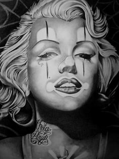 Marilyn Monroe, a la Chicana Marilyn Monroe And Audrey Hepburn, Marilyn Monroe Tattoo, Marilyn Monroe Photos, Marylin Monroe, Chicano Tattoos, Chicano Art, Girl Tattoos, Cholo Art, Tattoos Pics