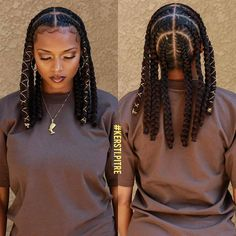 Black Girl Braids, Braided Hairstyles For Black Women, Braids For Black Hair, Braids For Black Women, Braids Hairstyles Pictures, African Braids Hairstyles, Girl Hairstyles, African Hair Braiding, Braid Hairstyles