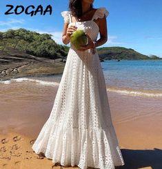 Bohemian White Lace Dress Boho Beach Dresses Chic Women Maxi Dress Womens A Plus Size Summer Long Wear Large Sizes 2019 Frocks Beach Dresses, Summer Dresses, Modest Dresses, 1950s Dresses, Winter Dresses, Long Dresses, Elegant Dresses, Evening Dresses, Summer Outfits