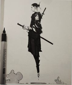 "rhubarbes: "" ArtStation - Inktober 2015_selection, by Alexander J More sketches here. """