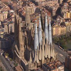 This animation shows the completion of Antoni Gaudí's Sagrada Família.