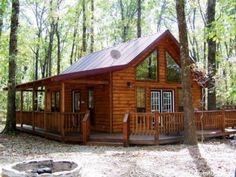 Your Dream Home? Dream home, loving the wrap around porch.Dream home, loving the wrap around porch. Log Cabin Living, Log Cabin Homes, Lake Cabins, Cabins And Cottages, Small Cabins, Small Log Cabin, Cabin Design, House Design, Plan Chalet