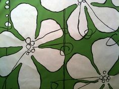 Hable Construction Clover Poppy  Fabric