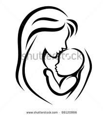 mom and baby drawing - Google Search