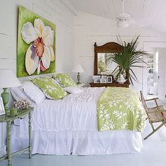 This would be the master bedroom in my cottage on the beach....