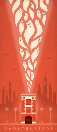 An alternative movie poster for the film Ghostbusters, created by Adrian Walsh, featured on AMP Minimal Movie Posters, Cinema Posters, Cool Posters, Ghostbusters Poster, The Real Ghostbusters, Ghost Busters, Fan Art, Alternative Movie Posters, Movie Poster Art