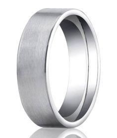 Designer Platinum Wedding Ring | 2 Grooves Satin finish