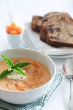 Chilled Cantaloupe Soup - I don't like cold soups, but I think I'm going to try this one in the summer...
