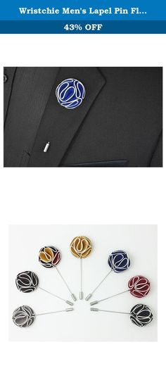 Wristchie Men's Lapel Pin Flower Handmade Boutonniere Pin for Suit (Pack of 7) (Style 8). Welcome to Wonderfuldeal's Shop, We sell only reliable products, it's our goal to make every customer satisfied with our services! Size: 3.5x8.3cm Material:Satin+Alloy Style:Lapel Pin Package includes: 7 x Lapel Pins (all in one box).