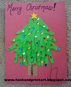 Handprint Xmas Tree
