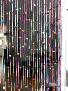 Crafts doorway curtains on pinterest curtains straws and plastic