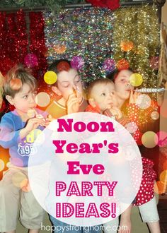 Noon Year's Eve – Party Ideas & Free Printable Throw a Happy Noon Year's Eve Party – complete with noise blowers, party games, and a ball (balloon) drop! Here's some party ideas for you! New Years With Kids, Kids New Years Eve, New Years Eve Party, Kids Party Games, Birthday Party Games, Games For Kids, Elmo Party, Elmo Birthday, Mickey Party