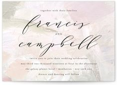 A Timeless Design With Beautiful Calligraphy Style Text. Multi-colored Wedding Invitations From Minted By Independent Artist Phrosne Ras. Pastel Wedding Invitations, Wedding Favor Tags, Rehearsal Dinner Favors, Multicolor Wedding, Wedding Order, Simple Elegance, Wedding Website, Celebrity Weddings, Invitation Design
