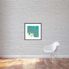 Print, canvas x - Oslo in northern lights colours Light Colors, Colours, City Maps, Oslo, Northern Lights, Chair, Canvas, Prints, Furniture