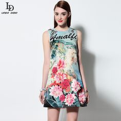 European Desigenr Diamonds Printed Appliques Casual Sleeveless Tank Dress $77.21   => Save up to 60% and Free Shipping => Order Now! #fashion #woman #shop #diy  http://www.clothesdeals.net/product/new-fashion-women-summer-dress-2016-runway-european-desigenr-diamonds-printed-appliques-casual-sleeveless-tank-dress