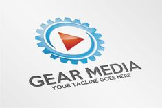 Gear Media – Logo Template by SpeedBlessing on @creativemarket