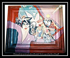 Photograph of an Acrylic on Canvas and Frame, front and back: Homage to Marc Chagall by Jean Elizabeth Ward. Seabrook Texas, Marc Chagall, Photo Editor, Photograph, Princess Zelda, Canvas, Artist, Anime, Painting