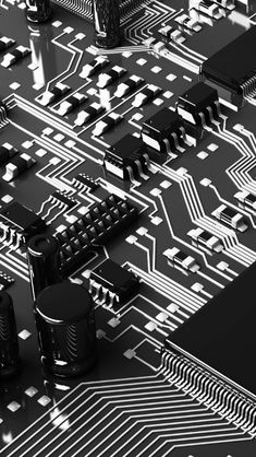 Circuit Boards Capacitors Resistors iPhone 5s Wallpaper