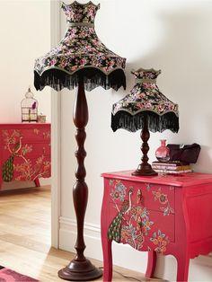 Gorgeous black floral lamps