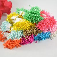 1 Bundle= 90PCS Artificial Flower Double Heads Stamen Pearlized Craft Cards Cakes Decor Floral for home wedding party decor