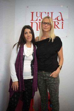 Carla Czudnowsky en la presentación de colección de Lucila Negri.