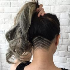 Long Hair With Nape Undercut