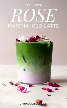 Iced Matcha Rose Latte and Iced Rose Latte