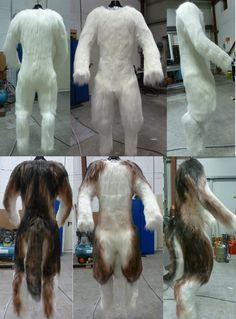 Airbrushing Wolf Fursuit Bodysuit by zyxwen.deviantart.com on @deviantART