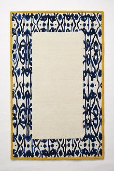 Ikat Border Rug #anthropologie