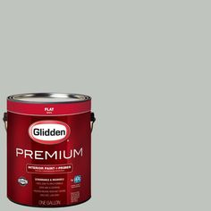 Glidden Premium 1 gal. #HDGCN10D Misty Grey Green Flat Interior Paint with Primer