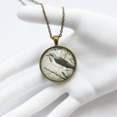 VINTAGE Round pendant metal brass with depiction of by OhKsushop, $11.99