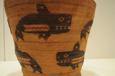 Tlingit basket ca. 1900 with orcas