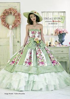 オシャレなウノ・エ・レトワールの新作ドレス!入荷しました♪-gooブログ Floral Prom Dresses, Ball Dresses, Pretty Dresses, Beautiful Dresses, Ball Gowns, Vintage Inspired Fashion, Fantasy Dress, Embroidery Dress, Marie
